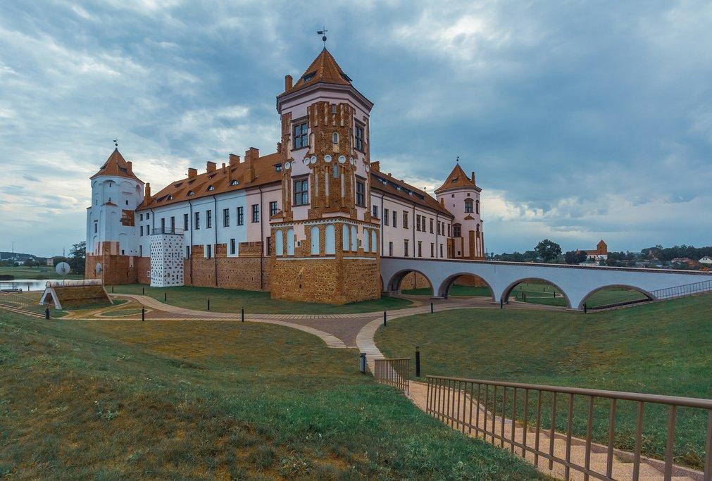 Town Mir castle in Belarus