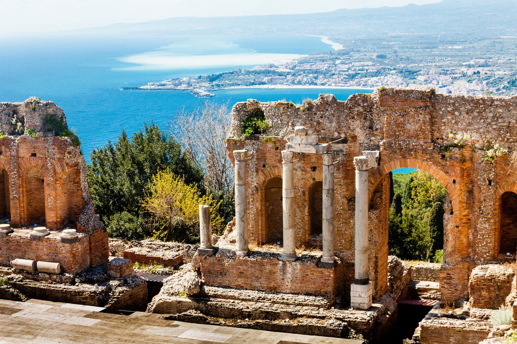 Ancient ruins at Taormina, Sicily
