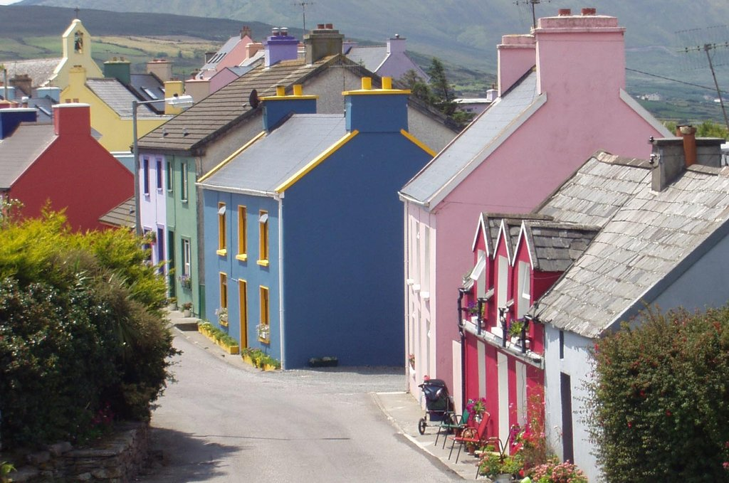 Colorful houses in Eyeries