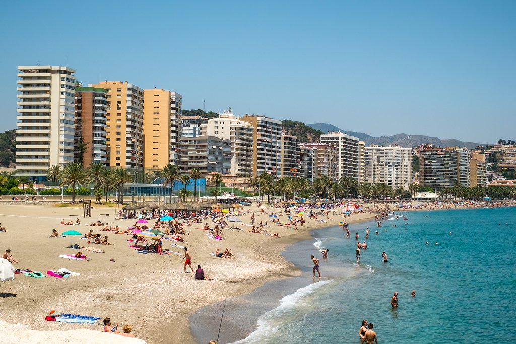 The beaches of Málaga