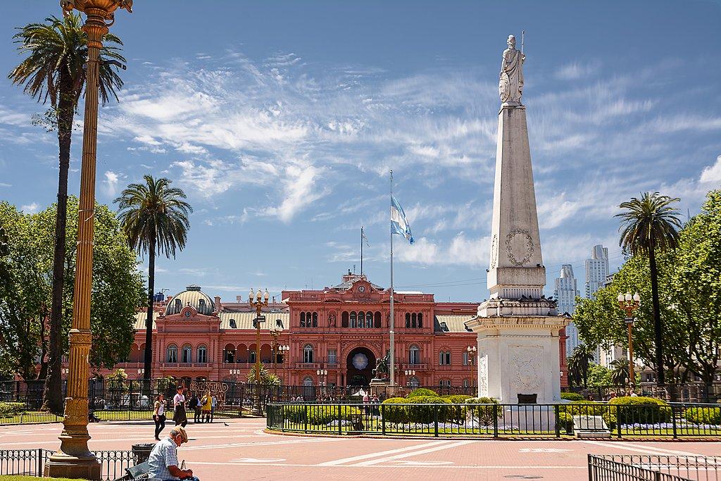 Casa Rosada in Buenos Aires' Plaza de Mayo