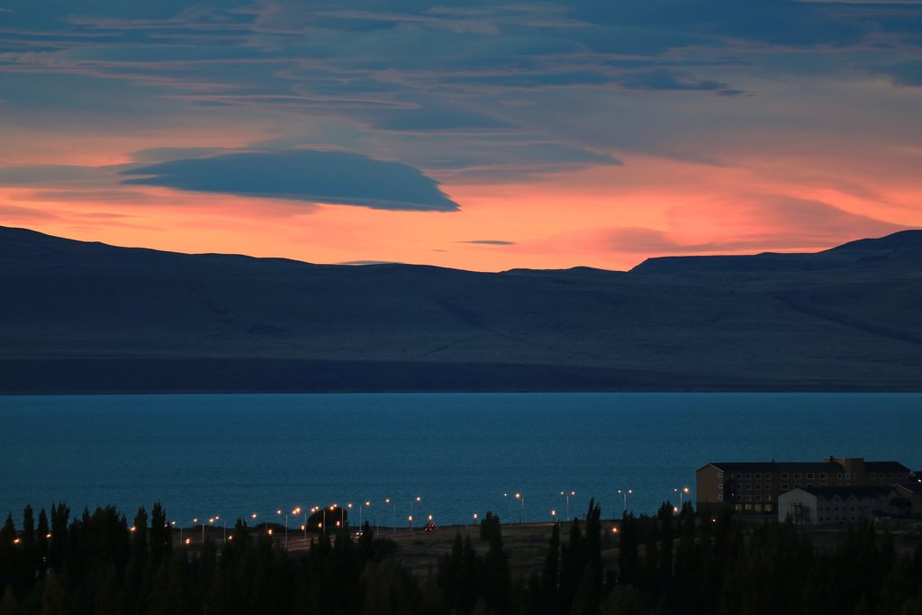 Sunset over Lake Argentino from El Calafate