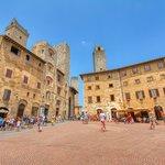 The medieval plazas of San Gimignano