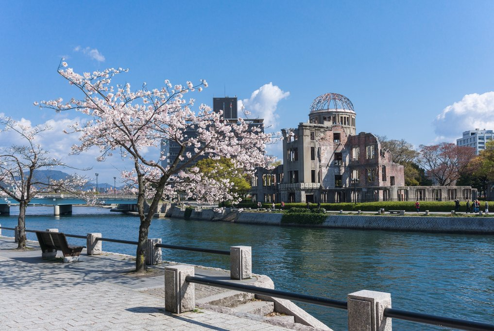 Atomic Bomb Dome and Cherry Blossoms, Hiroshima