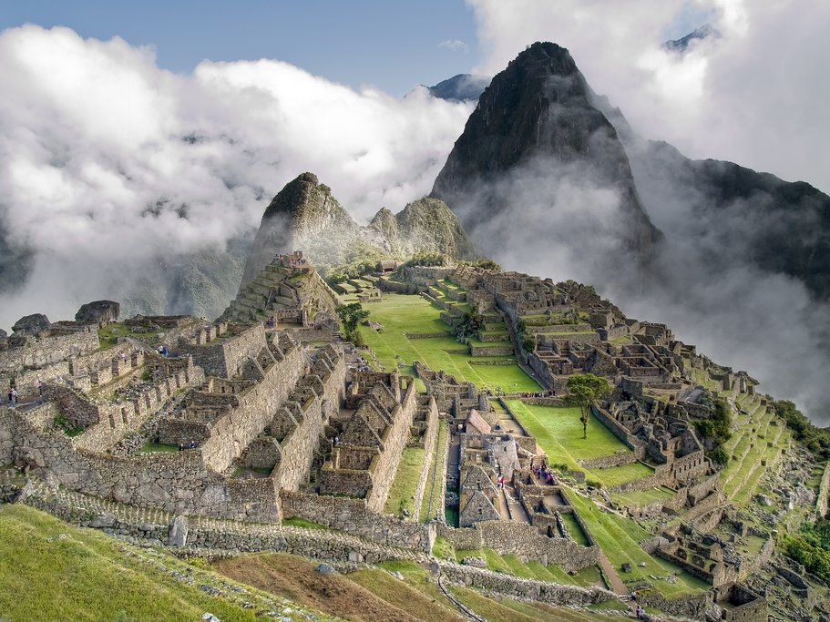 Looking down at the lost city of the Incas