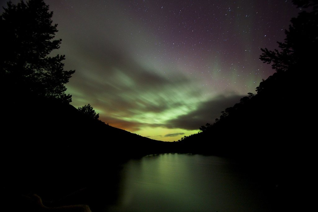 The northern lights can often be seen in the Cairngorms in winter.