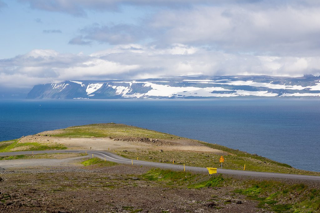 Drive along the scenic Westfjords