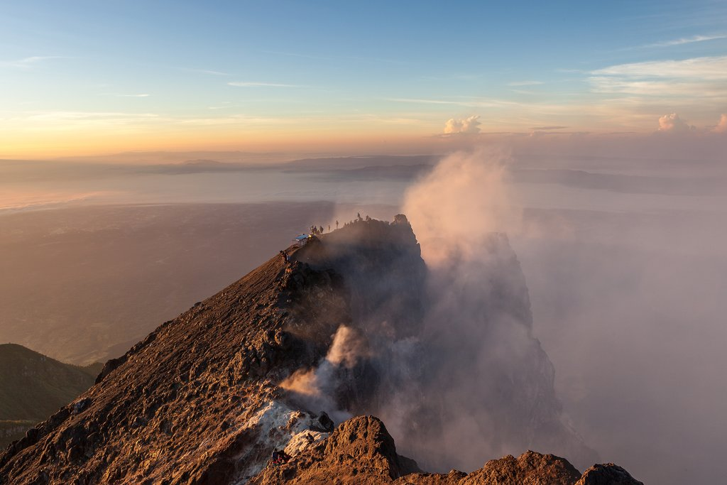 Merapi summit at sunrise