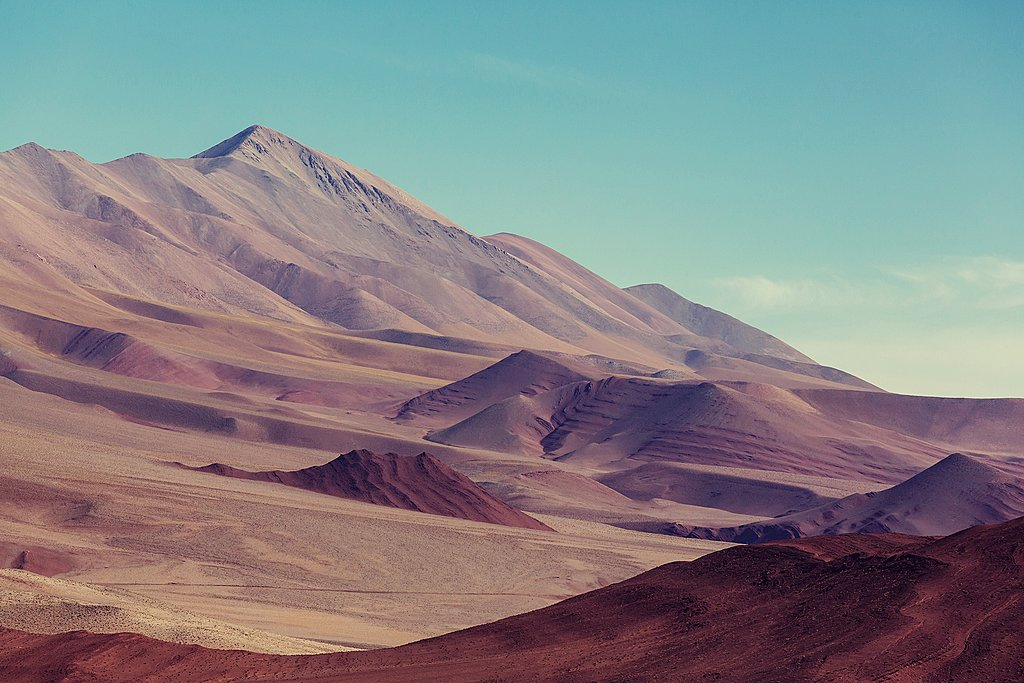 Mountain landscapes in La Puna