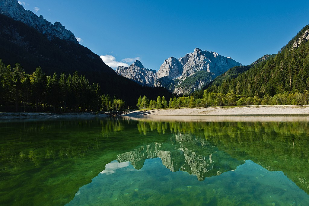 One of the freshwater lakes in the Kranjska Gora area