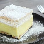 A slice of delicious Bled cream cake