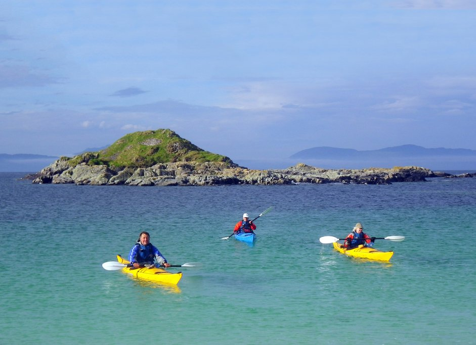 Sea Kayaking on the Sound Of Arisaig.