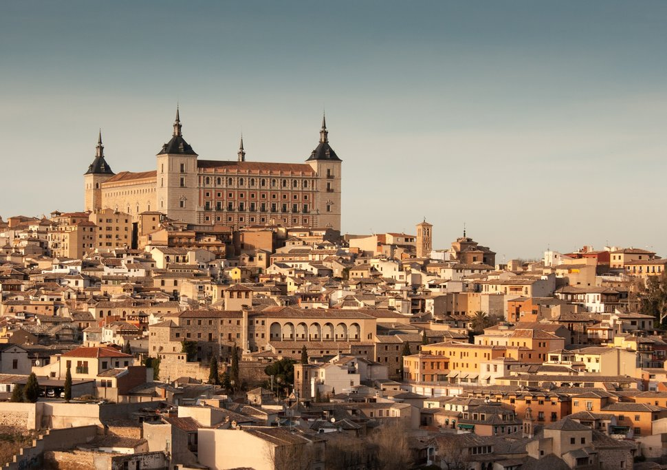 Toledo, with the Alcázar de Toledo perched atop the city