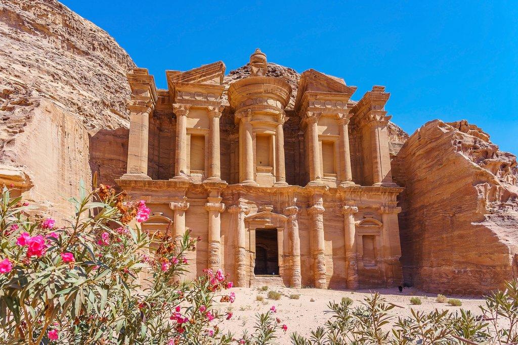Facade of the Monastery in Petra