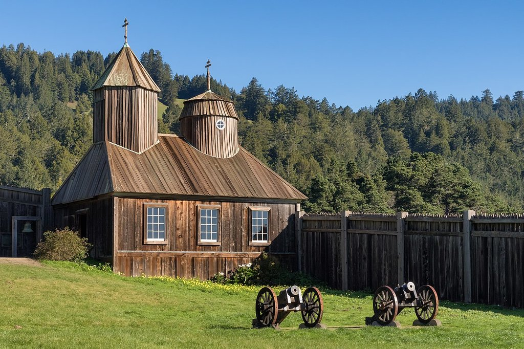 Russian Chapel at Fort Ross (Photo courtesy of wikipedia)