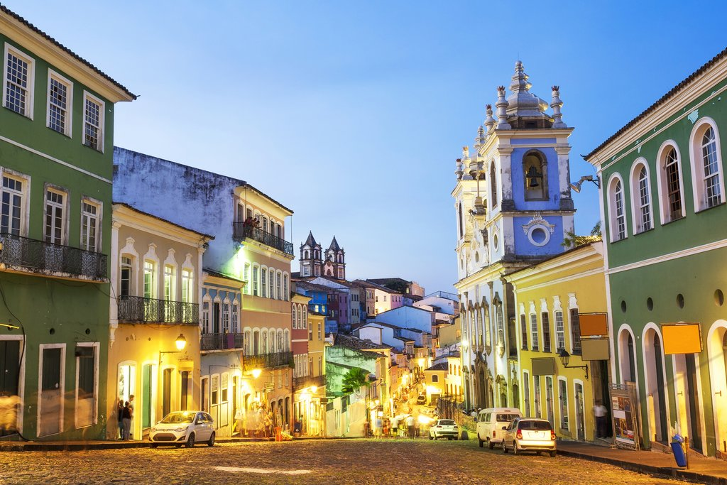 Historic district of Pelourinho in Salvador da Bahia