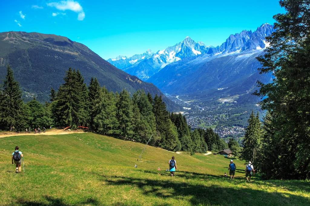 Hiking above Les Houches