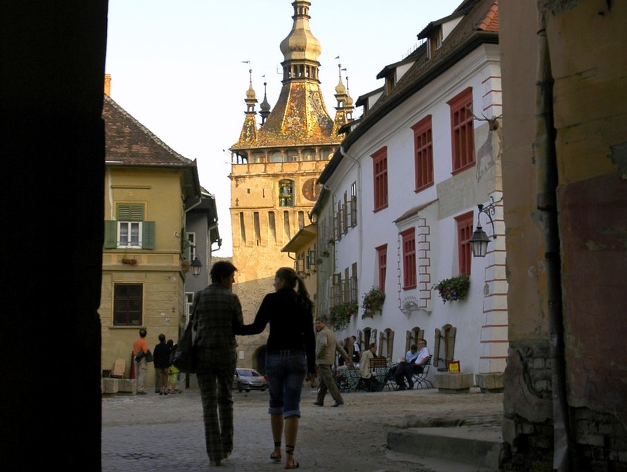 Inside the Sighisoara's citadel: the Clock Tower