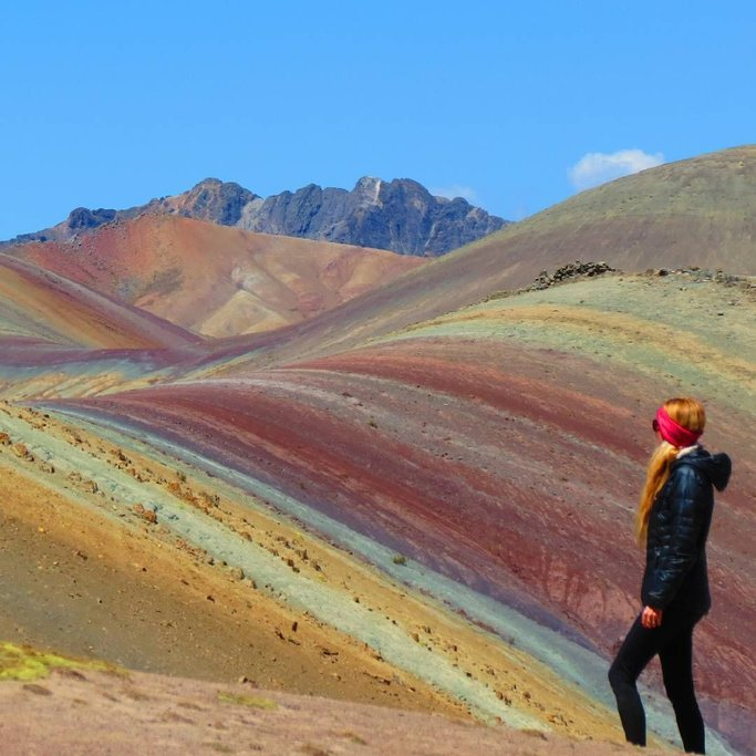 The vibrant colors of Rainbow Mountain