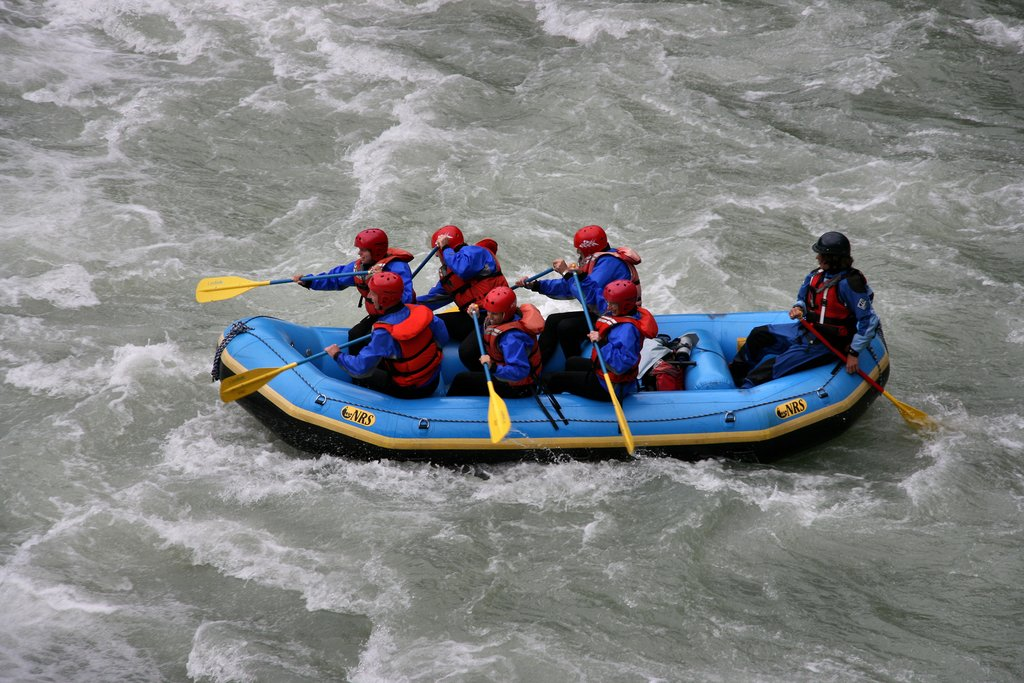 Whitewater rafting in the Cariboo Chilcotin