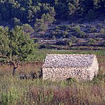 Old stone country house near Smokvica village