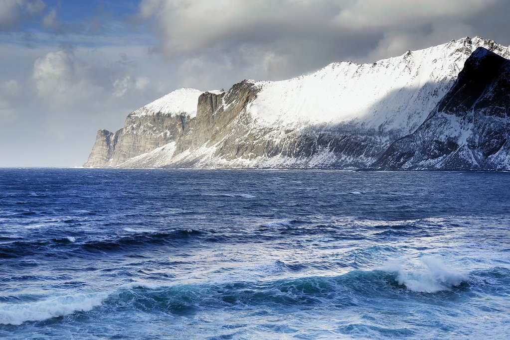 Senja's coastal landscapes in winter