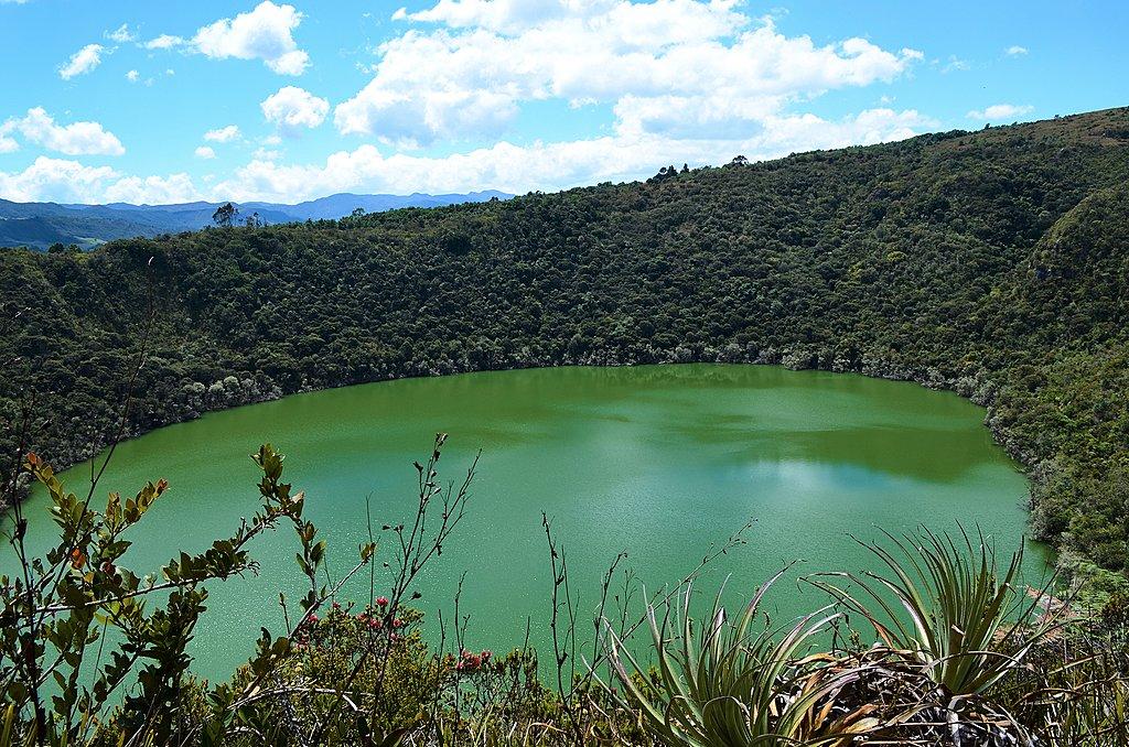 Hiking at Laguna de Guatavita