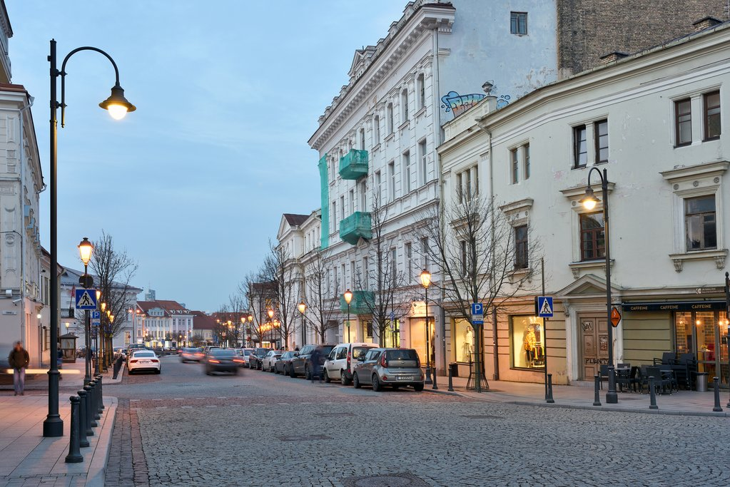 Streets of Vilnius in the Evening