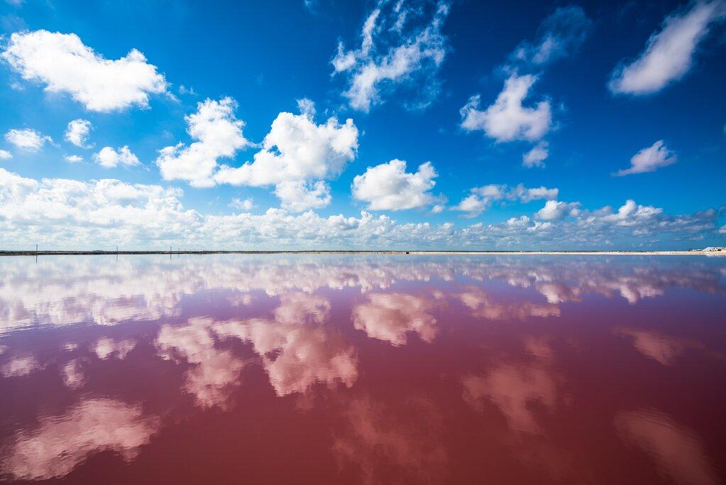 Sky reflected in Las Coloradas