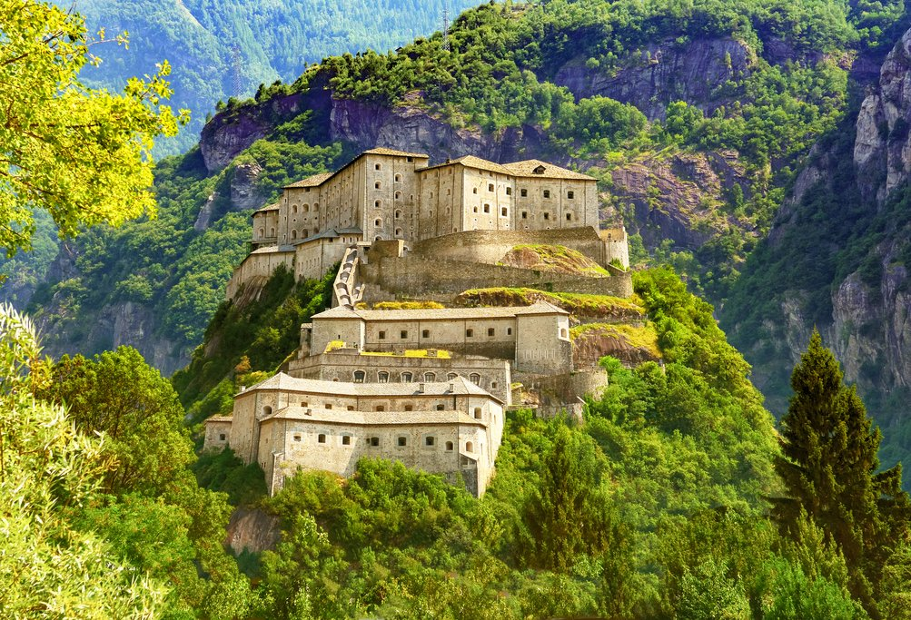 Medieval Fort Bard in the Italian Alps