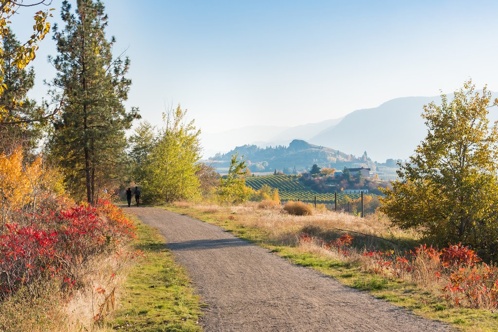 Kettle Valley Rail Trail between Summerland and Penticton