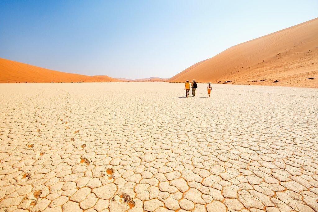 Walking in Deadvlei desert