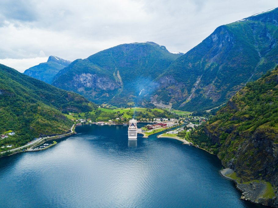 The picture-perfect village of Flåm sits at the edge of Norway's Sognefjord.