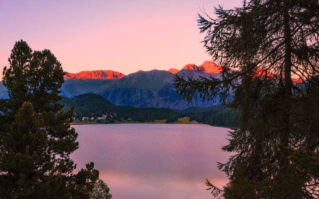 St. Moritz Lake in summer