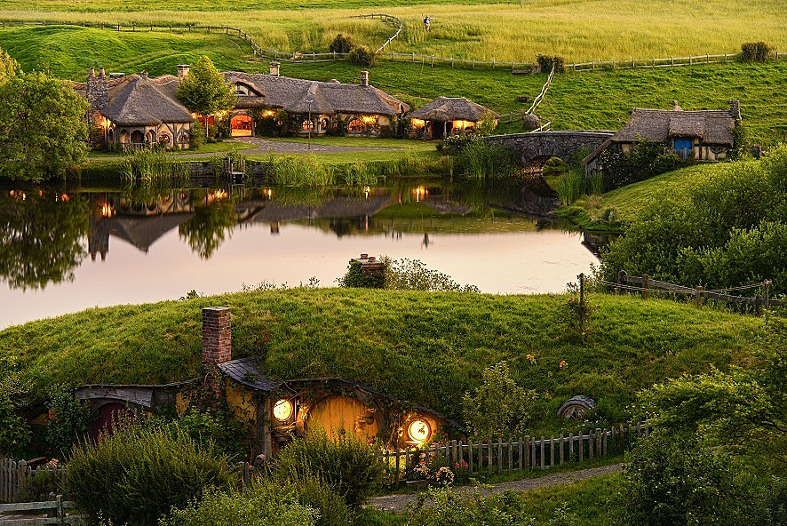 A view of the fictional Hobbiton