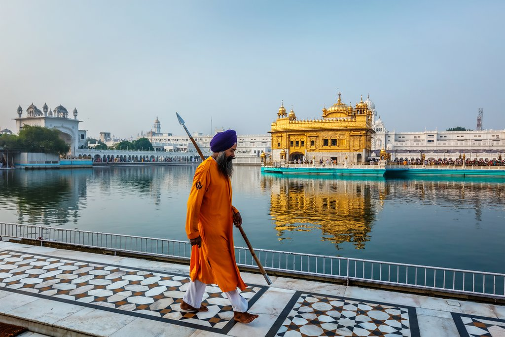 The Golden Temple is the holiest Gurdwara of Sikhism