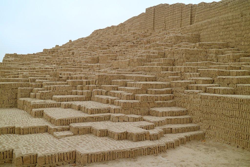 The ruins at Huaca Pucllana