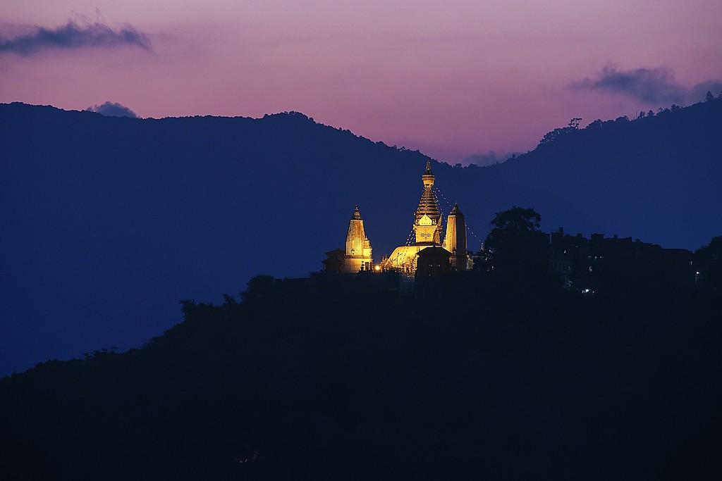 Swayambhunath at dusk