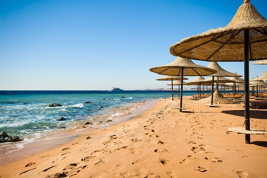 On the beach at Sharm el Sheikh