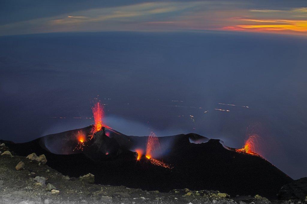 Italy - Sicily - Stromboli - Constant volcano activity