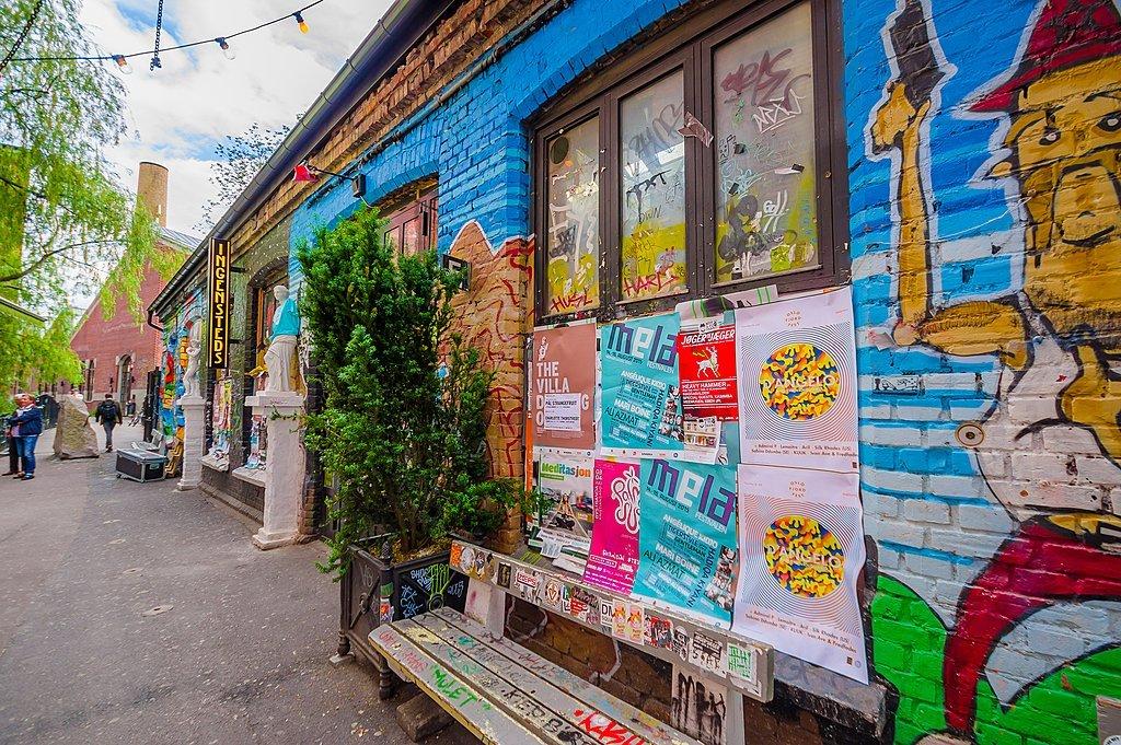 Street art in the Grunerlokka neighborhood