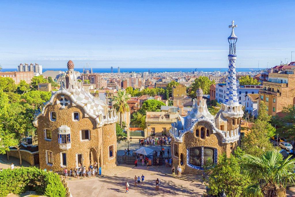 Gaudí's Park Güell atop Carmel Hill