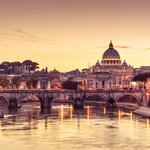 Sant`Angelo bridge and St. Peter's Basilica, two of Rome's highlights