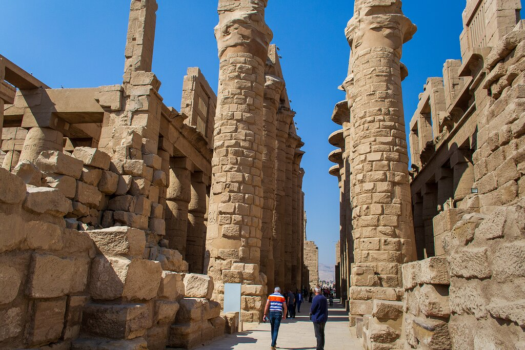 Ancient Egyptian temple complex in Luxor