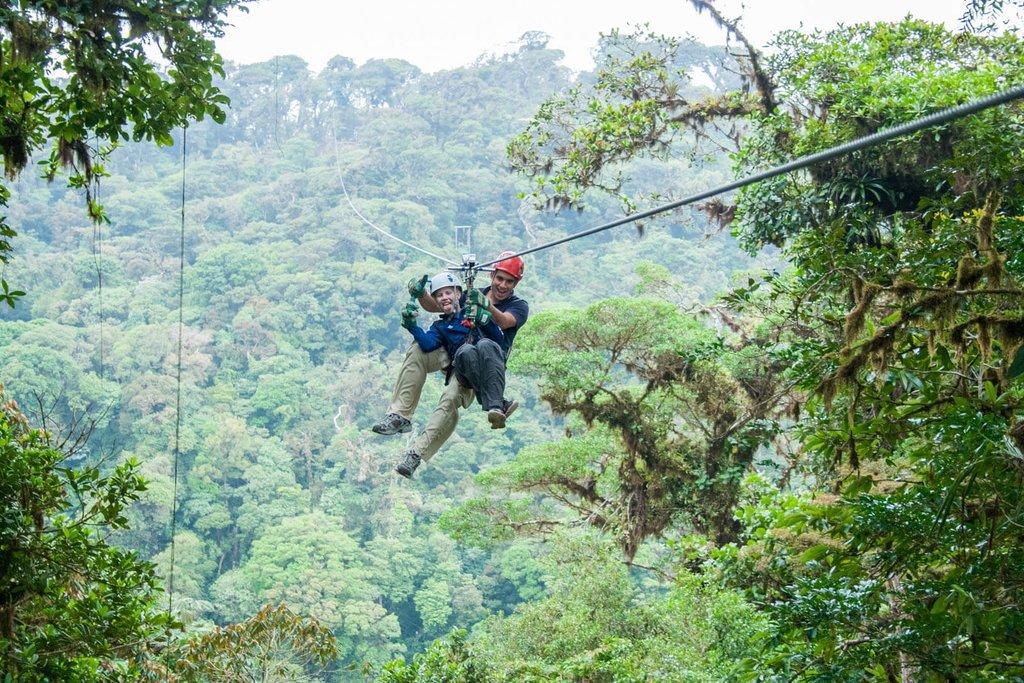 Zipline through Sky Adventures Monteverde Park