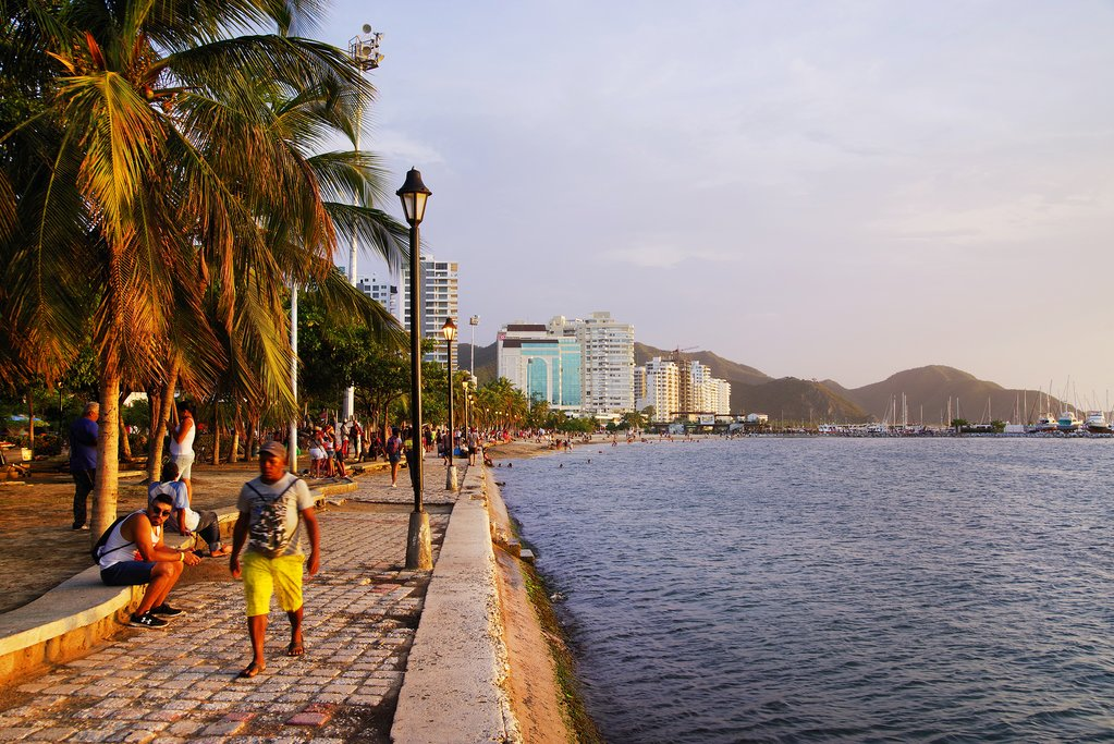 Waterfront Promenade in Santa Marta