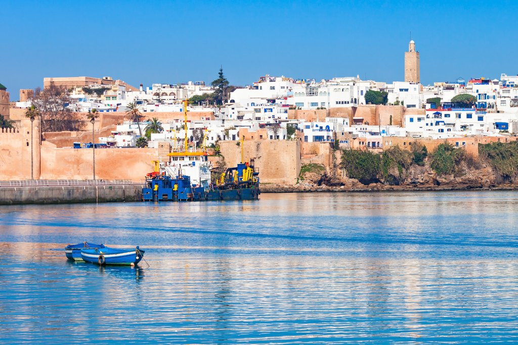 Rabat sits where the Bou Regreg River