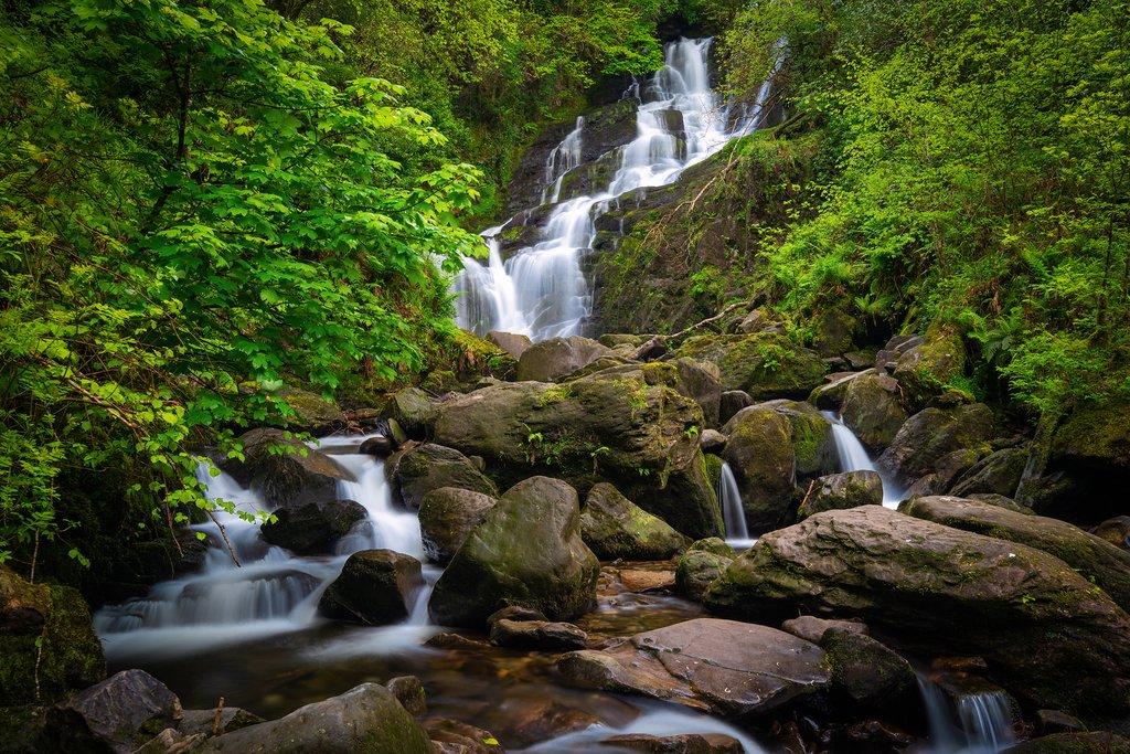 Ireland - Kerry - Torc Waterfall in Killarney National Park