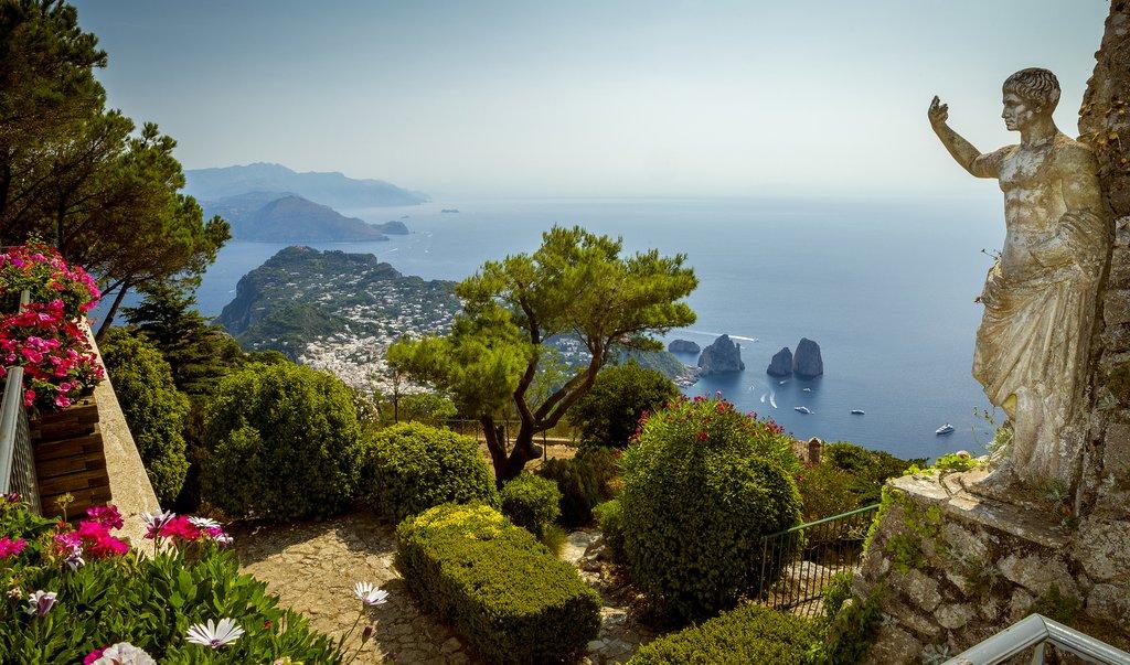 Views from Mount Solaro on Capri