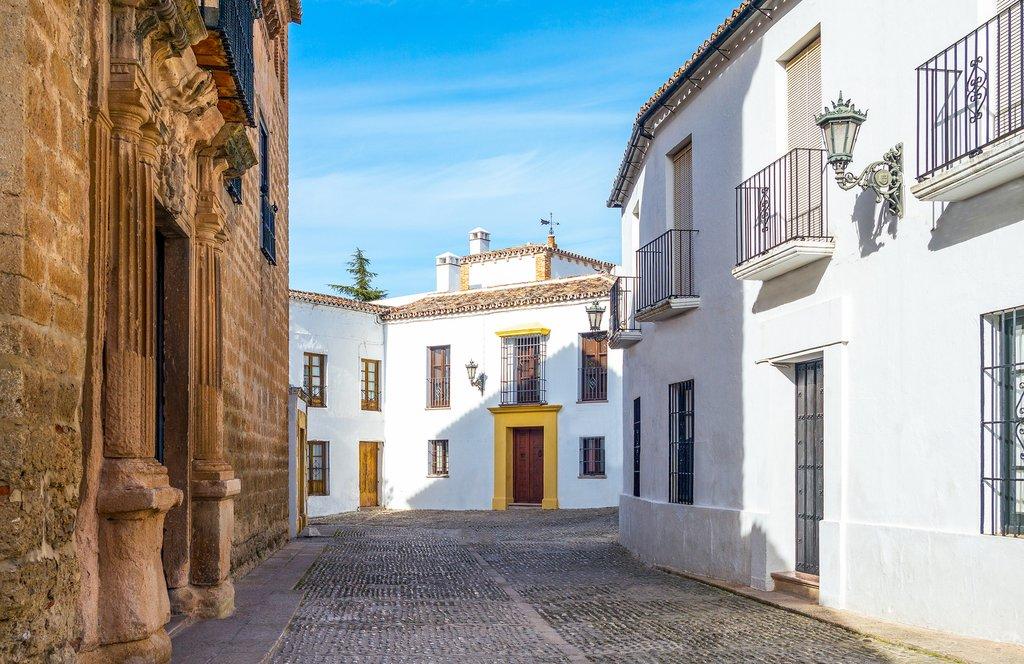 Spain - Ronda - Palacio de Mondragón and traditional homes